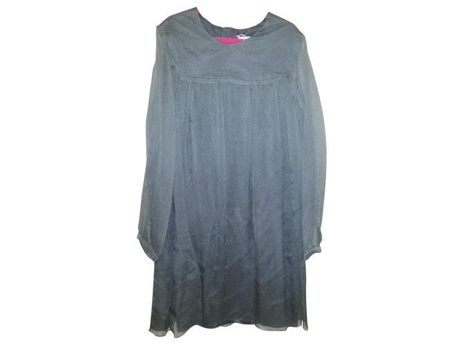 Chloé Chloe Dress 8 years old, very classy chic! Dresses Silk,Cotton Silvery,Grey ref.123001
