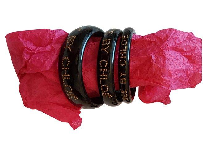 Chloé trio Bracelets Resin Black ref.123043