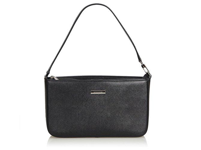 1e872603dd42 Burberry Burberry Black Leather Shoulder Bag Handbags Leather