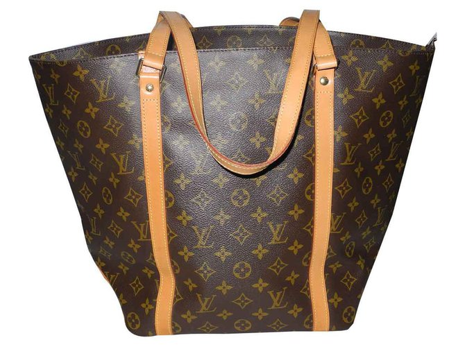 Cabas Louis Vuitton Louis Vuitton grand cabas toile marron monogram Cuir Marron ref.123193