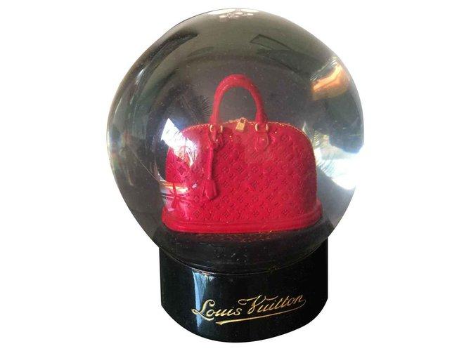 Louis Vuitton Louis vuitton snow globe Misc Glass Dark red ref.123195