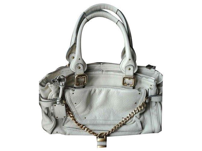 Chloé paddington Handbags Leather Eggshell ref.123196