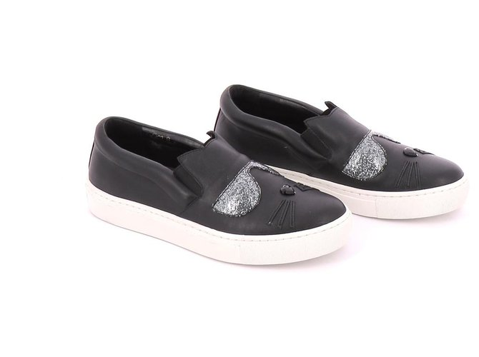 Autre Marque sneakers Misc Leather Black ref.123250