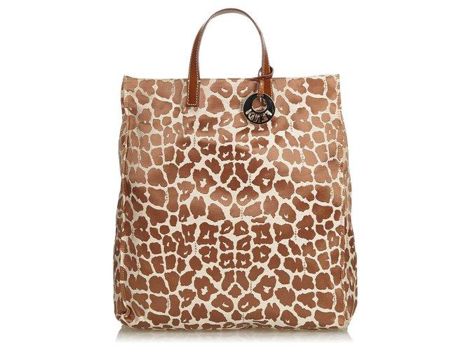 4a8d3136e67e Fendi Fendi Brown Printed Jacquard Tote Bag Totes Leather