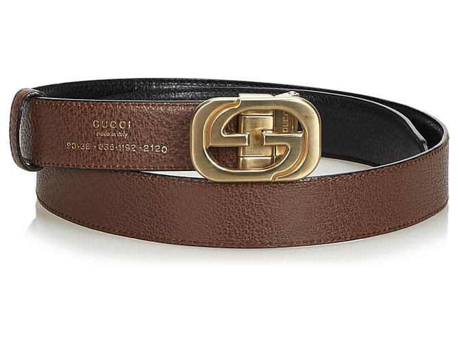 79dba5b26ed Gucci Gucci Black lined G Reversible Leather Belt Clutch bags Leather