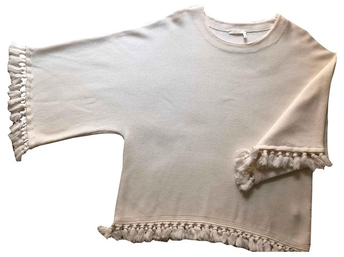 Chloé knits Knitwear Wool Eggshell ref.123381