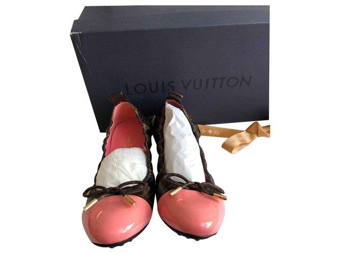 7b79132771ef Louis Vuitton Flirty ballerina Ballet flats Leather Brown ref.123429 ...
