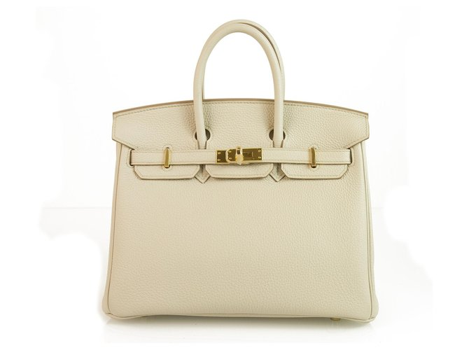 Hermès HERMES BIRKIN 25 Beton Gold Hardware 2018 Brand New with Box Excellent & Rare Handbags Leather Grey ref.123451