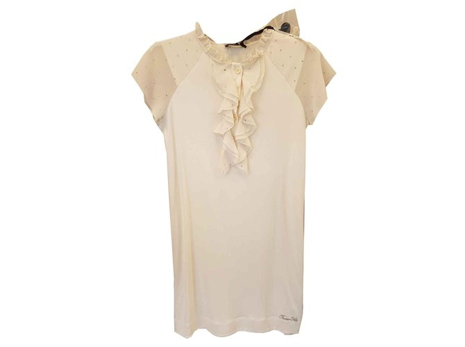 Twin Set Dresses Dresses Viscose Cream ref.123533