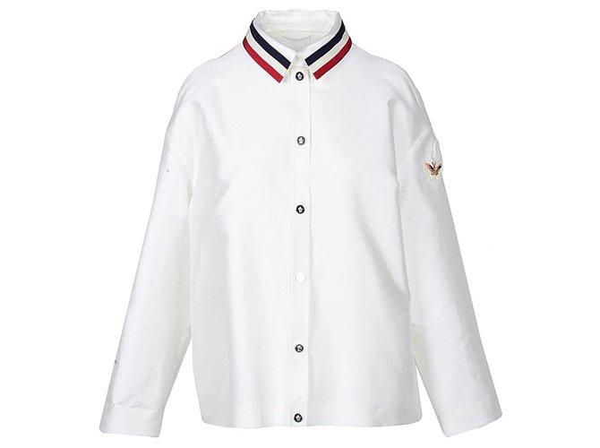 Vestes Moncler Moncler veste nouvelle Autre Blanc ref.123580