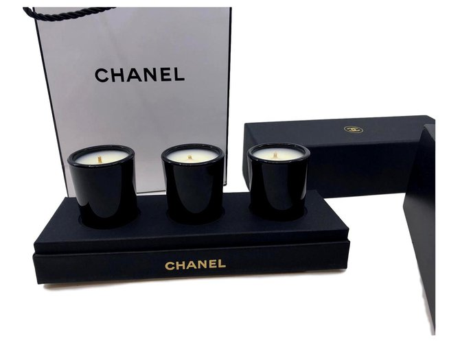 Chanel CANDLES CHANEL Misc Glass Black,White ref.123706