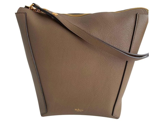 Mulberry Mulberry Camden Handbags Leather Taupe ref.123710