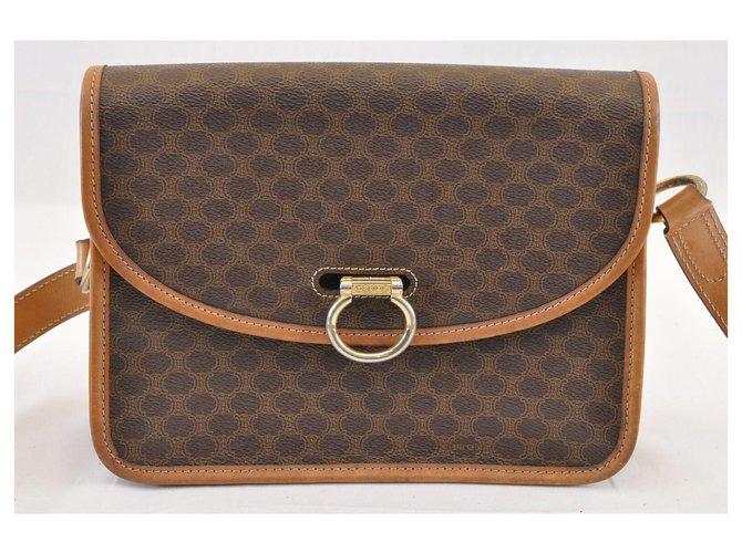 Céline Céline Macadam Shoulder Bag Handbags Cloth Brown ref.124231