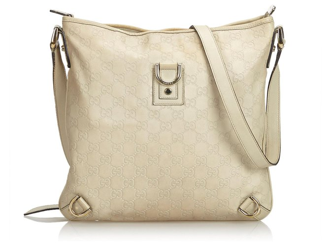 d9cd72cc2 Gucci Gucci Brown Guccissima Abbey Leather Crossbody Bag Handbags Leather,Other  Brown,Beige ref