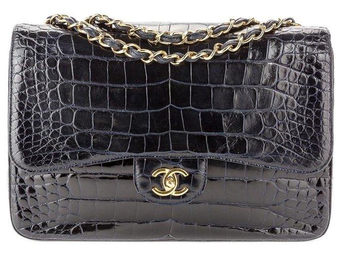 Chanel Handbags Handbags Exotic leather Navy blue ref.124457