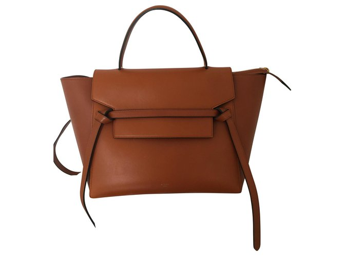 Céline Celine Mini Belt Bag Camel Handbags Leather Caramel ref.124516