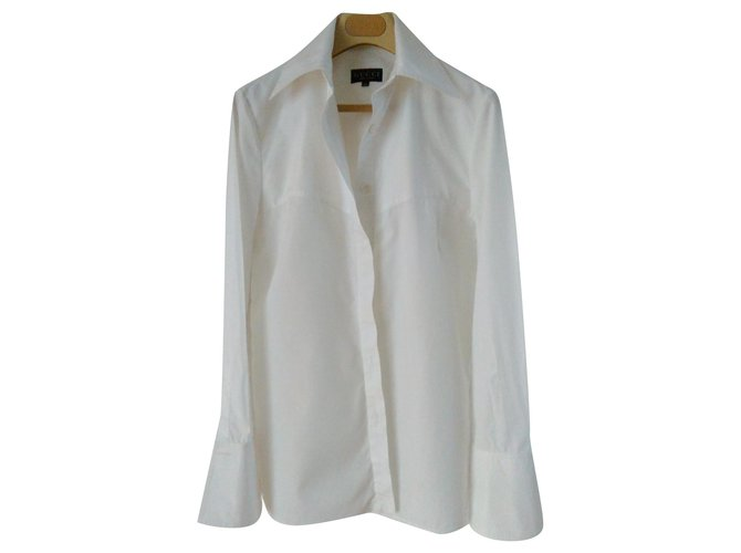 Tops Gucci BLOUSE GUCCI en coton blanc Coton Blanc ref.124552