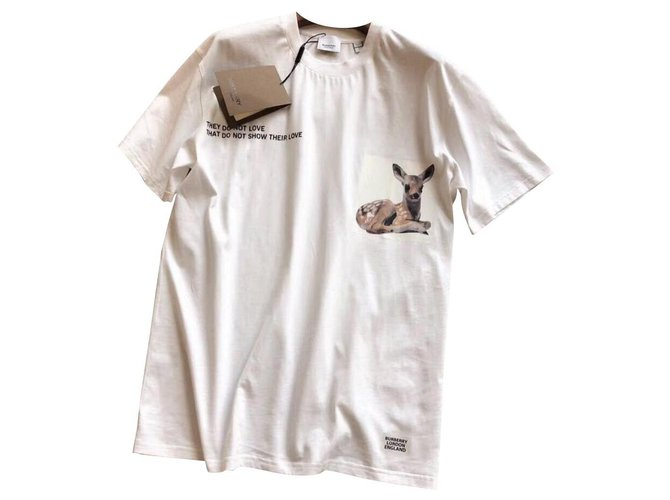 Burberry Burberry Bambi T-Shirt S Tops Cotton White ref.124677