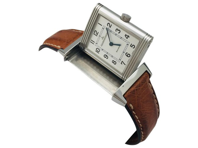 "Jaeger Lecoultre Jaeger Lecoultre Watch, ""Reverso"", steel on leather. Misc Steel Other ref.124766"