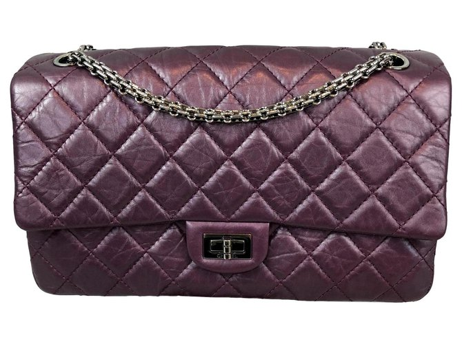 aa15426c61e5 Chanel Reissue 2.55 Handbags Leather Purple ref.124778 - Joli Closet