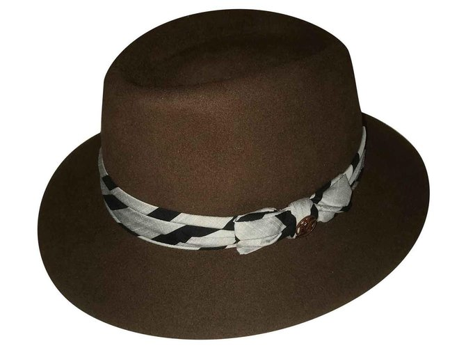 Maison Michel Andrew Hats Other Brown ref.124832