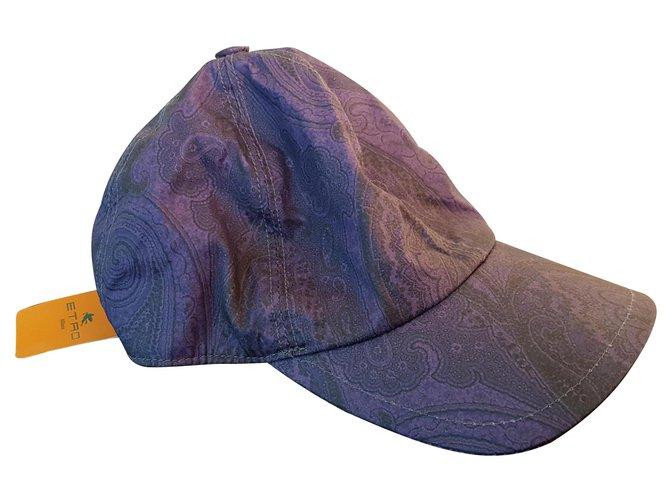 Etro Baseball hat ETRO Misc Cotton,Polyester Purple ref.125001