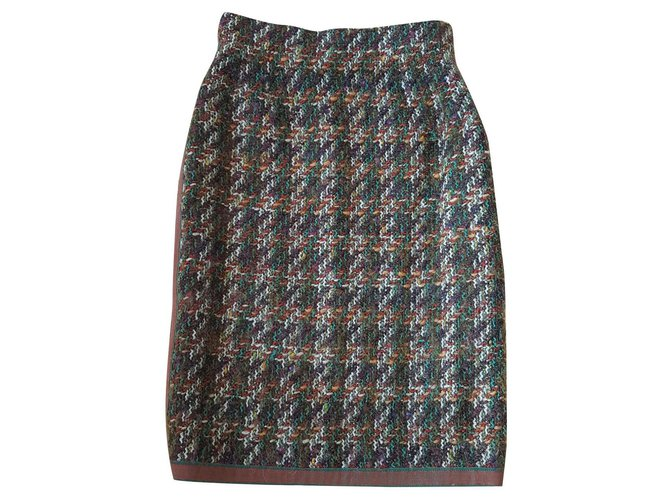Chanel Skirts Skirts Silk,Wool Multiple colors ref.125045