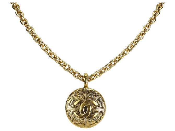 Chanel Chanel Gold CC Pendant Necklace Misc Other,Metal Golden ref.125057