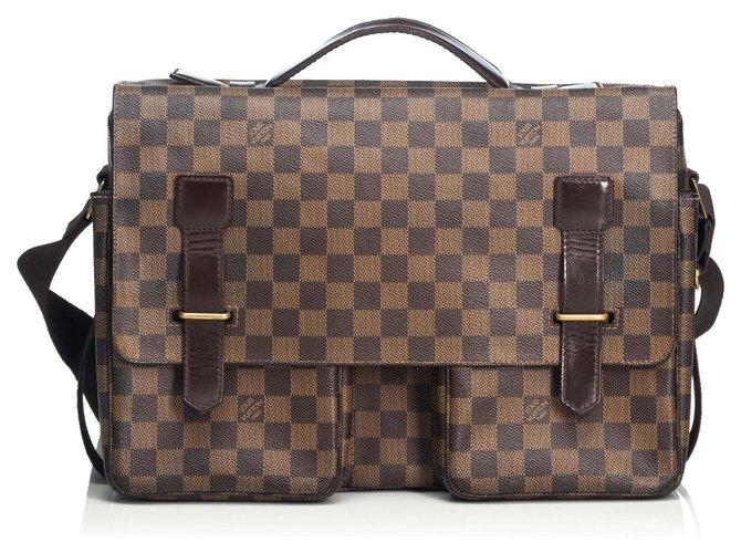 Louis Vuitton Louis Vuitton Brown Damier Ebene Broadway Misc Leather,Other,Cloth Brown ref.125131