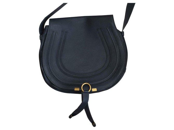Chloé MARCIE BESACE Handbags Leather Dark grey ref.125218