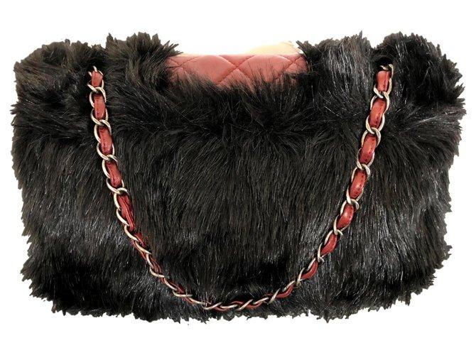 Chanel Paris-Shanghai Handbags Leather Dark red ref.125343