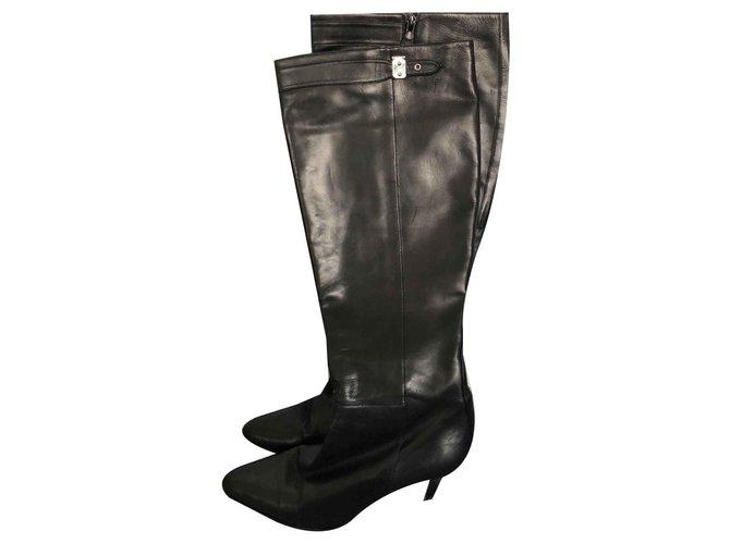 Hermès Boots Boots Leather Black ref.125394