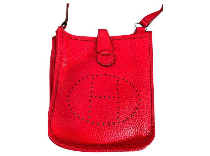 Hermès EVELYNE TPM Handbags Leather Red ref.125404