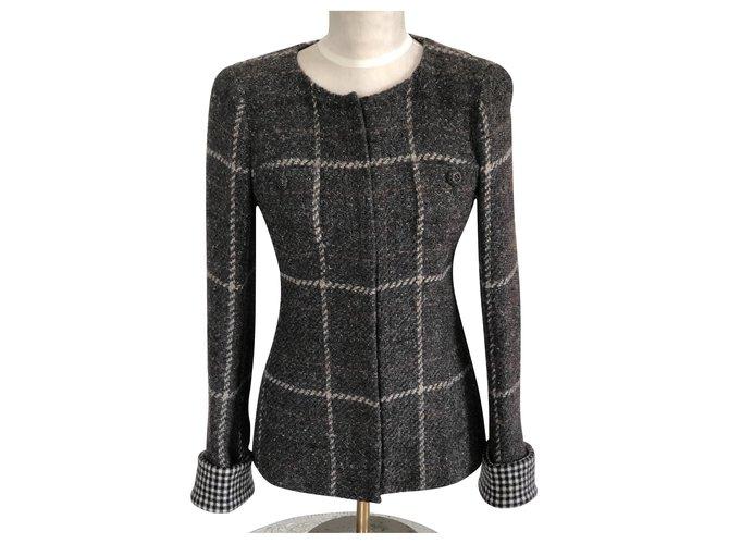 Chanel Jackets Jackets Wool Grey ref.125433