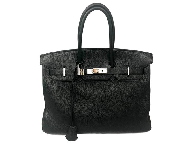 Hermès Birkin Handbags Leather Black ref.125456