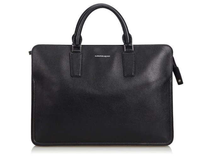 Alexander Mcqueen Alexander Mcqueen Black Leather Heroic Briefcase Misc Leather,Other Black ref.125569