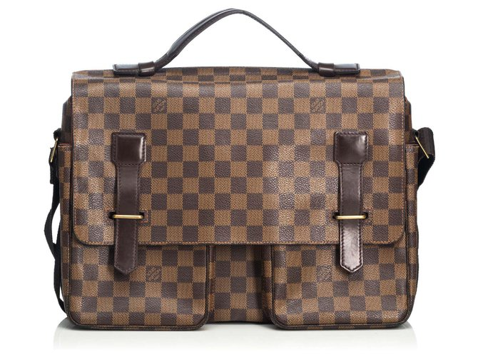 Louis Vuitton Louis Vuitton Brown Damier Ebene Broadway Misc Leather,Other,Cloth Brown ref.125589