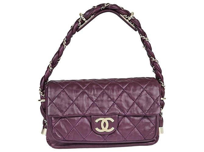 Sacs à main Chanel Sacs à main Cuir Violet ref.125624