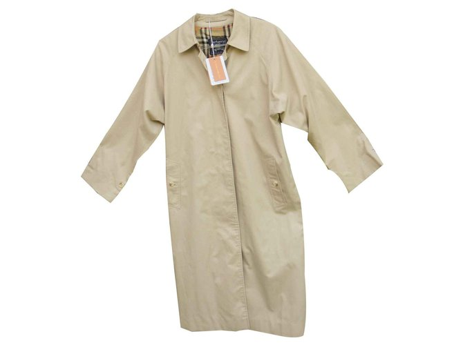 Burberry Trench coats Trench coats Cotton,Polyester Beige ref.125679