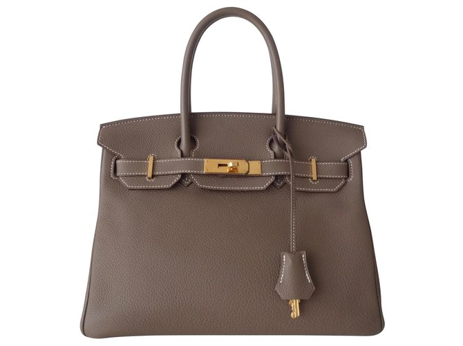 Hermès HERMES BIRKIN BAG 30 etoupe Handbags Leather Other ref.125697