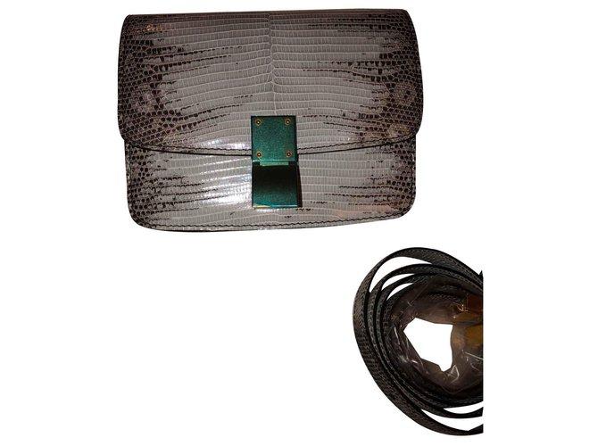 Céline Celine box bag Handbags Exotic leather Light blue ref.125813