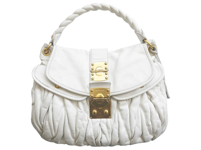 Miu Handbags Leather White