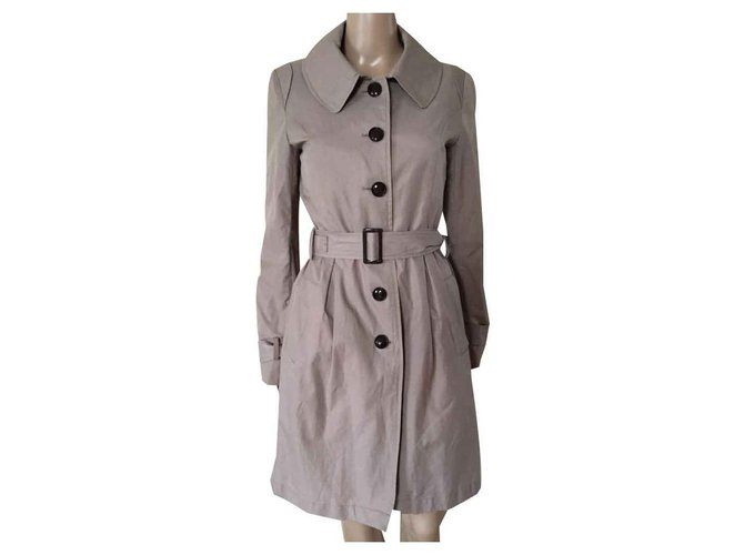 Selected Coats, Outerwear Brown Cotton  ref.125822