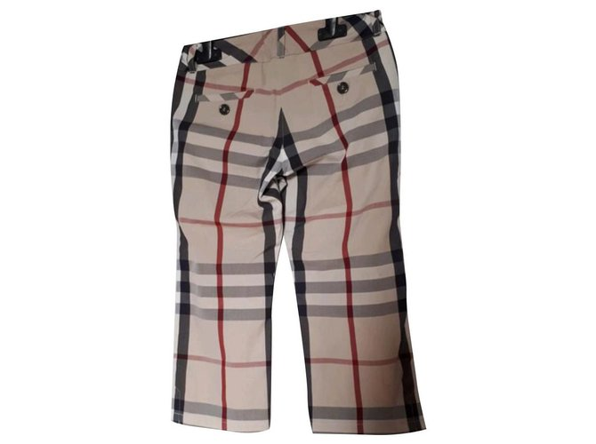 Pantalons fille Burberry Pantalons Coton Beige ref.125926