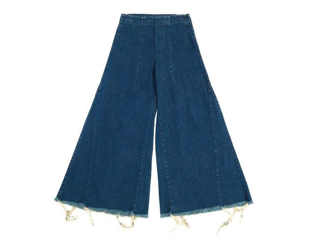 Chloé OVERLARGE FR38 Jeans Cotton Blue ref.125945