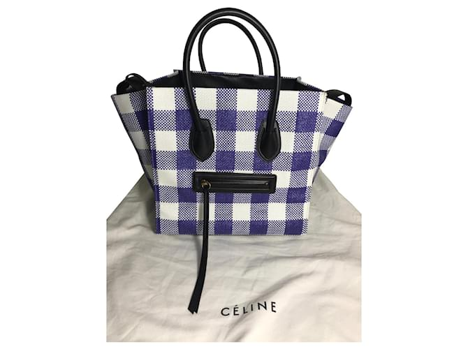 Céline BAG CELINE PHANTOM LUGGAGE NEVER WORN Handbags Leather Black,White,Blue ref.125968
