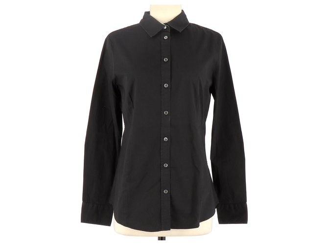 Burberry Shirt Tops Cotton Black ref.125981