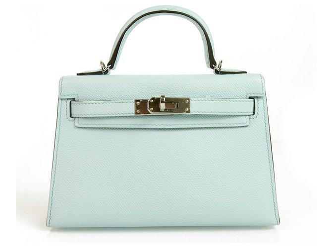 c50719125779 Hermès Hermes Mini Kelly 20 II Blue Zephyr Epsom with Palladium Hardware  mint condition Handbags Leather