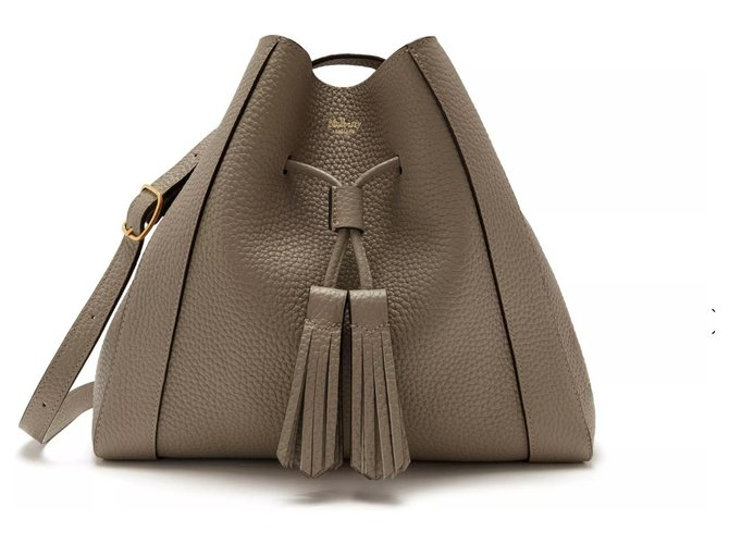 Mulberry Millie Handbags Leather Grey,Taupe ref.126011