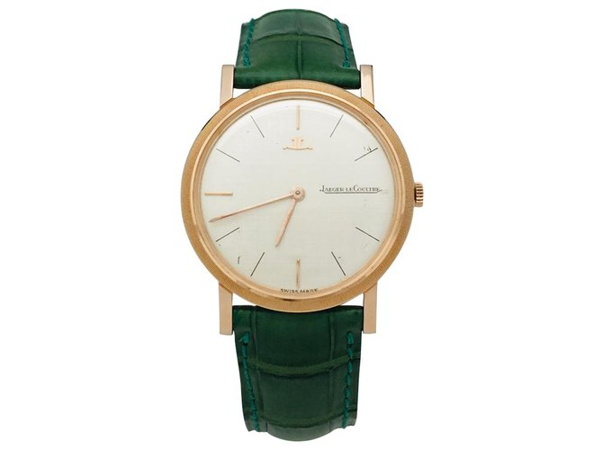 Jaeger Lecoultre Jaeger Lecoultre watch in pink gold on leather. Fine watches Leather,Pink gold Other ref.126022